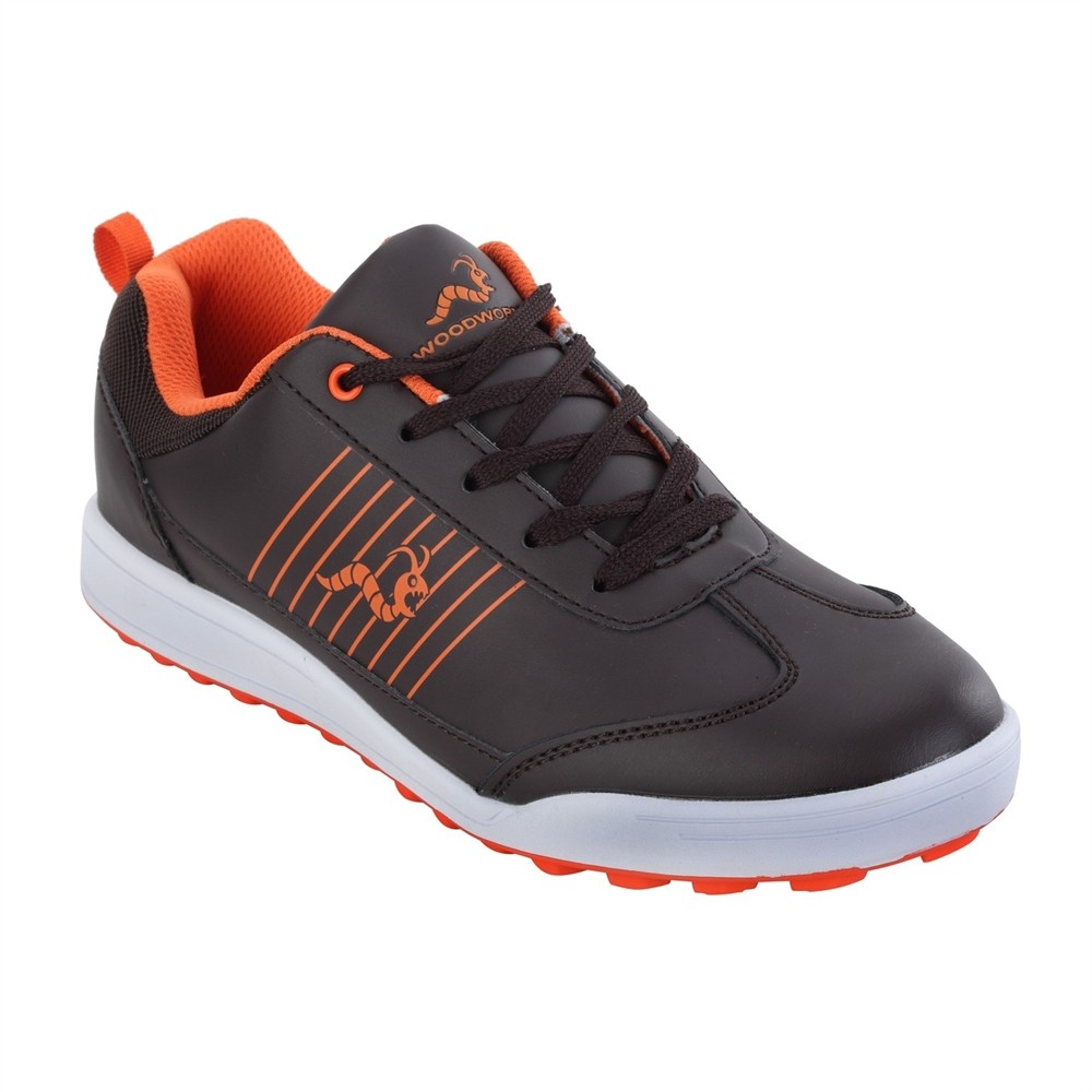 Woodworm Surge Golf Shoes - Brown / Orange - Woodworm Direct - Cricket, Golf  and More