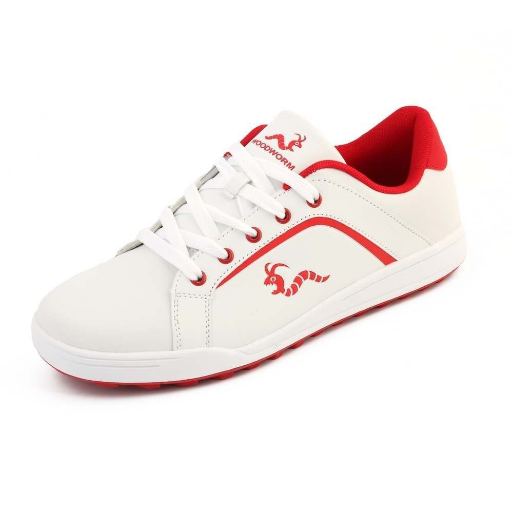 Woodworm Golf Surge V3 Mens Waterproof Golf Shoes White/Red
