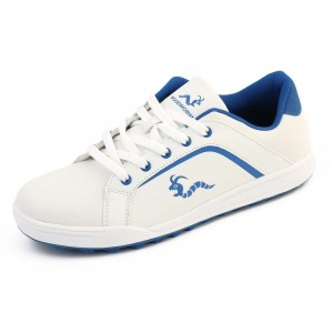 Woodworm Golf Surge V3 Mens Waterproof Golf Shoes White/Blue