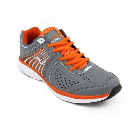 Woodworm Flame Mens Running Shoes / Trainers - Grey