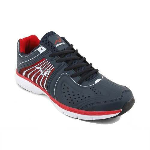 Woodworm Flame Mens Running Shoes / Trainers - Navy