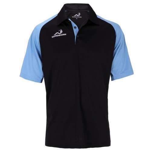 Woodworm Pro Cricket Short Sleeve Shirt Sky Blue