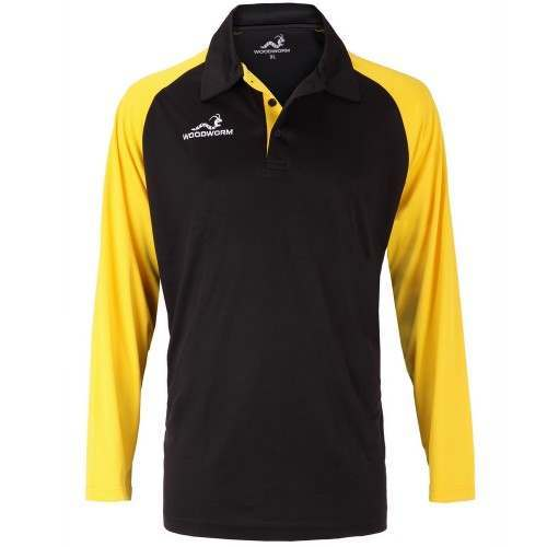 Woodworm Pro Cricket Long Sleeve Shirt Gold