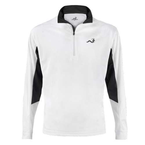 Woodworm 1/2 Zip Tech Golf Pullover - White/Grey